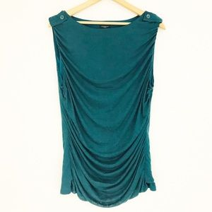 Ann Taylor Blouse Sleeveless Draped Front Top